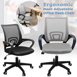 New Ergonomic Mesh Office Chair Adjustable Desk Chair Swivel Computer Chairs UK