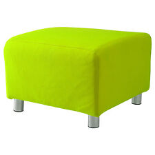 Lime Cotton Custom Slip Cover for Ikea Klippan Footstool Sofa Cover Foot Stool