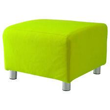 Kalk Baumwolle Bezug für Ikea Klippan Fußbank Sofa Überwurf Schemel