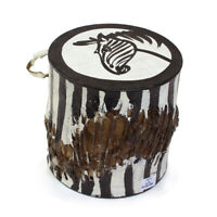 Small African Drum: Zebra   Music Instrument