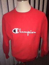 Vintage Champion Reverse Weave Sweatshirt Men's Size L Cotton Blend USA Red L/S