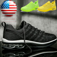 Men's Air Cushion Sneakers Gym Sports Lightweight Walking Athletic Running Shoes