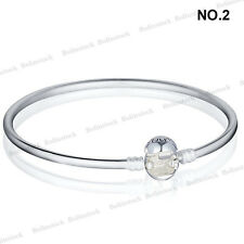 European Sterling 925 Silver Leather Bracelets Chains Necklaces fit Charms Beads
