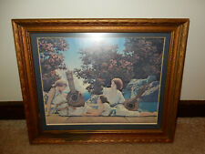"Vintage Maxfield Parrish Print INTERLUDE, Framed, 16"" x 13"""