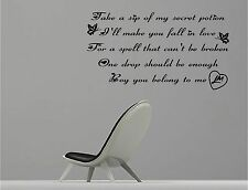 LITTLE MIX black magic lyric - VINYL WALL ART STICKERS - music pop
