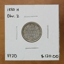Canada - 1880 H Obv. 2 - 10 cents - #2724