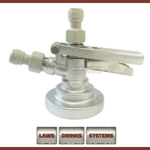 GRUNDY G TYPE System Keg Coupler with Gas Inlet & Beer Outlet fittings - NEW
