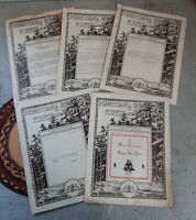 Lot 5 Antique 1931 Pennsylvania Dept of Forests and Water Service Letter Booklet