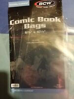 20 Loose Modern / Current BCW Comic Bags 6 7/8 × 10 1/2 2 mil