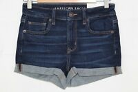 American Eagle Women's High Rise Shortie Next Level Stretch Size 2 Dark Blue
