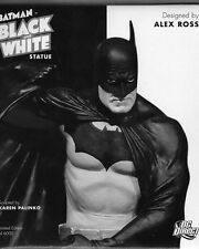 BATMAN BLACK AND WHITE STATUE ~ ALEX ROSS   DC Direct Collectibles  NIB