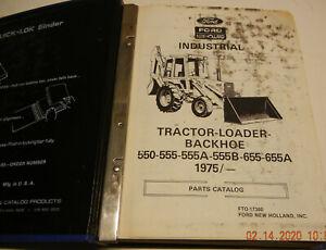 Ford 550-555-555A-555B-655-655A 1975/- Loader Backhoe Dealer Parts Catalog