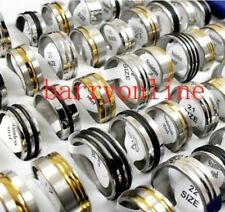 36pcs Mixed Men's Stainless Steel Rings Wholesale Fashion Jewelry Lot