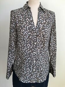Marc O'Polo Floral Ditsy Botanical 100% Cotton Shirt Blouse Size 38 10 12