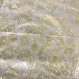 WATERFORD Gold Floral Damask Dinner Napkins Lot 6 VGUC Romantic Victorian