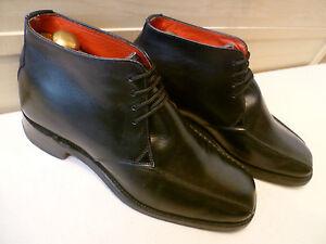 Jeffery West full leather ankle boot UK 8.5 42.5 sq toe tramline Croaker chukka