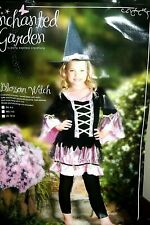 Enchanted Garden Blossom Witch Halloween Costume Size 12-14 Kids H1