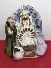New Blue Sky Clayworks First Christmas Nativity Scene Tealight Votive Holder