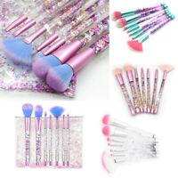Mermaid Makeup Brushes Liquid Glitter Eyeshadow Make Up Brush Set Xmas Gif