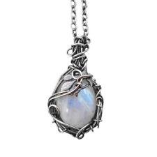 Fashion Women Moonstone GEMSTONE Vintage Charm Necklace Pendant Jewelry Gifts