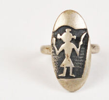 Hopi Craft Mudhead Overlay Ring Vintage Old Pawn Hopicraft Jewelry Tribal Signed