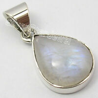 Sterling Silver Wholesale Jewelry Rainbow Moonstone Pendant for Necklace