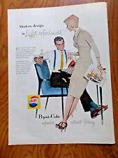 1957 Pepsi Cola Soda Ad Couple Modern Design