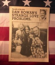 """Dan(Rowan)& Dick(Martin)""magazine page signed by both! (rare!) & L.In -VHS tape"