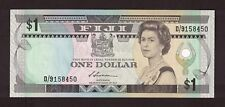 FIJI (1987) 1 DOLLAR QUEEN ELIZABETH NOTE UNC P-86a SIGN S.SIWATIBAU D/9158450