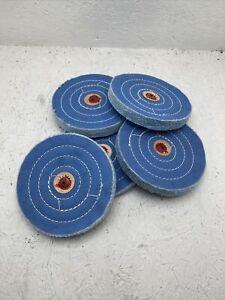 (Qty. 5) Platinum Blue Muslin Buffs