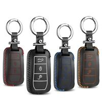 Leather Key Cover Car Key Fob Bag Case Wallet Holder for Porsche Cayenne Turbo