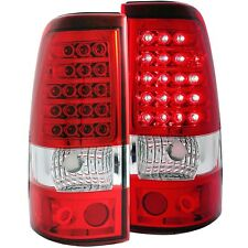 ANZO Red/Clear Tail Lights For Chevy Silverado 03-06 1500/2500 & 04-07 1500/2500