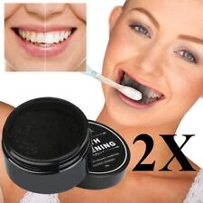 2x Natural Whitening Tooth & Gum Powder Coconut Charcoal Toothpaste Carbon