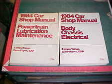 1984 FORD ESCORT EXP / TEMPO MERCURY LYNX /TOPAZ SHOP MANUAL SET xlnt
