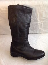 Legroom Black Knee High Leather Boots Size 8