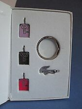 LACOSTE Limited Edition No 2 Autumn Winter 2011 2012 Key Ring 4 Mini Charm Set
