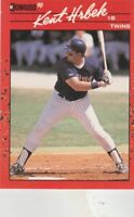 FREE SHIPPING-MINT-1990 Donruss Minnesota Twins Baseball Card #81 Kent Hrbek