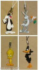 TWEETY,SYLVESTER,BUGS BUNNY,DAFFY DUCK CELL PHONE STRAP CHARM KEY CHAIN Ca un38