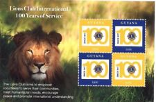 Guyana 2017 - Lions club international 100 years of service - Sheet of 4 stamps
