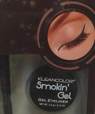 KLEANCOLOR SMOKIN' Gel Eyeliner Caramelized BROWN With Professional Brush