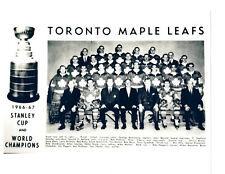 1966 1967 TORONTO MAPLE LEAFS 8X10 TEAM PHOTO  HOCKEY NHL STANLEY CUP CHAMPIONS