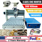 3040T 4 Axis CNC Router Engraver Machine 3D Cutter Drilling Carving + Controller