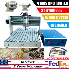 4 Axis 3040t Cnc Router Engraver Machine 3d Cutter Drilling Carving Handwheel