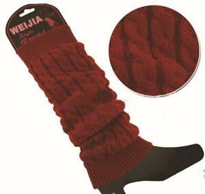Women Winter Warm Leg Warmers Cable Best Ladies Knitted Socks Legging Crochet