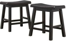 "Set of 2 New Black stool for arcade cocktail table 18"" Saddleback bar Furniture"