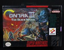 SNES Contra III The Alien Wars Factory Sealed Super Nintendo 1992 Free US S&H