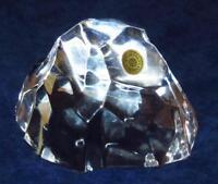 "Art Glass Val St. Lambert Belgium Clear Crystal Rock Iceberg Paperweight, 2 1/8"""