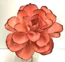 """PVC Lotus Rose Flower Succulent Pick~Color:Coral/Blush~Artificial~12""""T x 6""""W"""