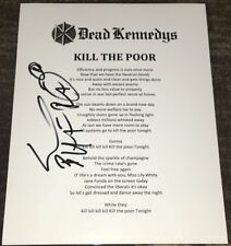 JELLO BIAFRA SIGNED DEAD KENNEDYS KILL THE POOR LYRIC SHEET w/EXACT PROOF