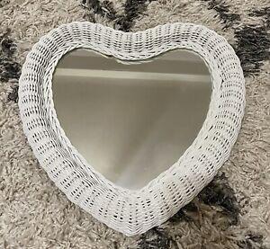 Heart Shaped Wicker Mirror